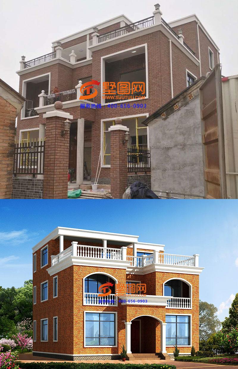 三层农村自建房平顶设计图纸施工,有建房平面图纸就是不一样