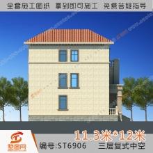 墅图三层别墅设计图农村3层自建房设计图别墅设计图三层别墅设计图