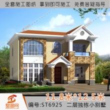 墅图两层农村私家别墅设计图两层房屋设计图二层别墅设计图自建别墅设计图纸