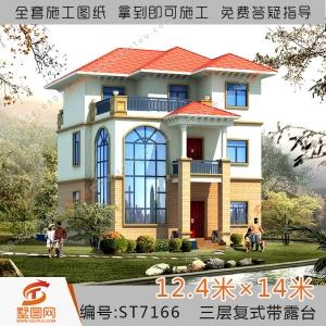房建建筑蓝图- 复式农村自建房屋建筑工程图