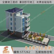 墅图五层农村自建房农村住宅别墅设计五层住宅别墅设计图别墅设计图纸