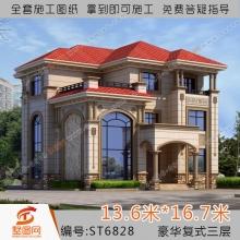 墅图欧式别墅设计图纸三层独栋农村自建房全套图复式框架结构