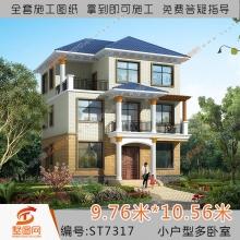 墅图网三层小户型别墅设计图纸 新农村自建房全套施工图房屋7317